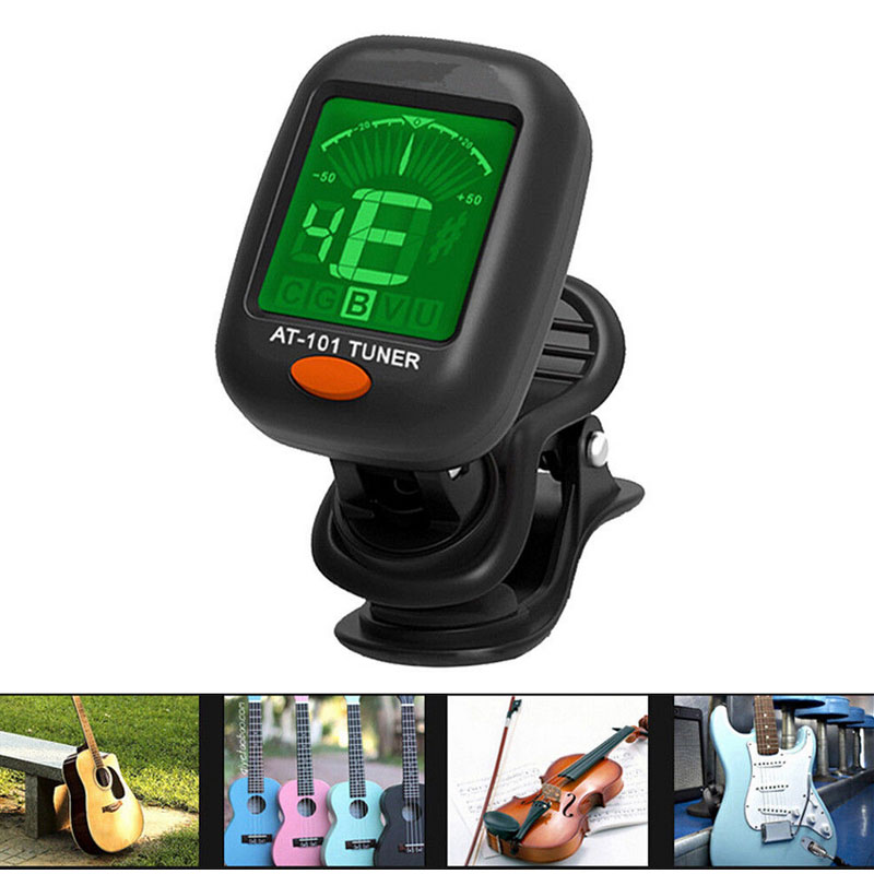 2020 New Electric Guitar Tuner Pedal Clip On Chromatic Digital Mini LCD Screen Tuners For Guitar Bass Violin Ukulele Accessories