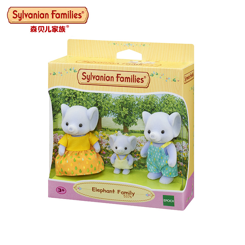 Sylvanian Families Elephant Family Doll Play House Children'S Educational Toy 5376