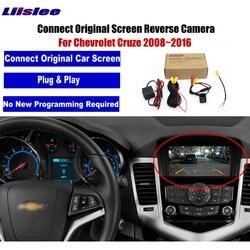Samochód kamera cofania dla Chevrolet Cruze 2008 ~ 2016 kompatybilny oryginalne fabryczne ekran kamera parkowania w Kamery pojazdowe od Samochody i motocykle na