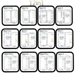 12 sztuk magnetyczny śruba wykres mata naprawa przewodnik Pad narzędzia dla iPhone 6  Xs Max|Zestawy narzędzi do naprawy telefonu|   -