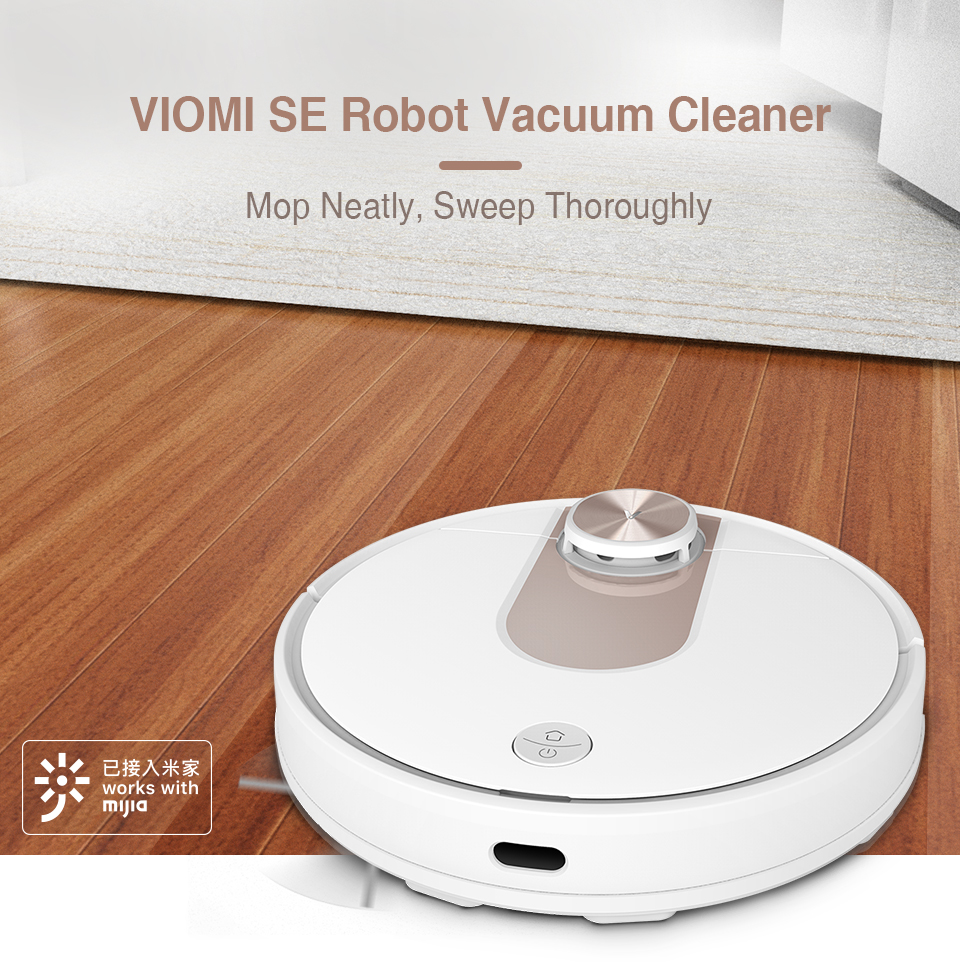 VIOMI SE Y-type Electric Mop Sweeping Robot Vacuum Cleaner, Mijia APP, Save 5 Maps 7 Schedule, Carpet Hair Pet Dust Collecto 1