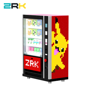 ZRK new coming Mini popular Vending Machine Building Blocks Bricks City Accessories Drink Food Case Kits Set DIY Toys for Kids