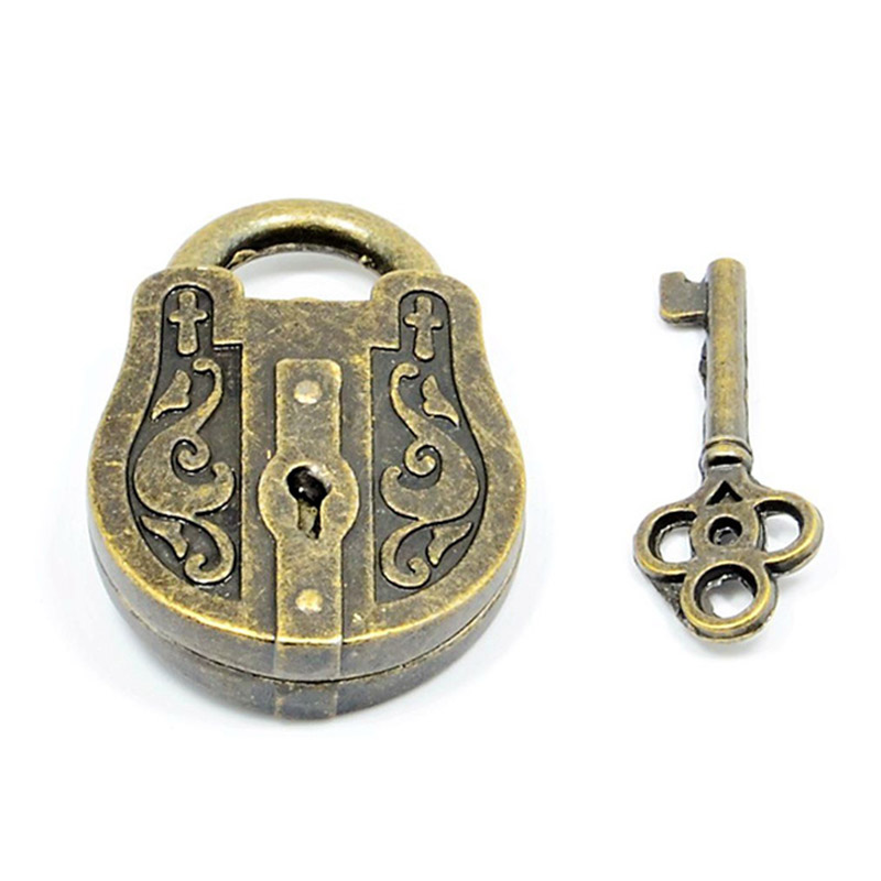 High Quality Vintage Metal Cast God Lock Key Puzzle Toy IQ EQ Mind Brain Teaser Kid Gift