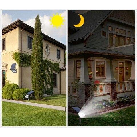 led solar gramado luz villa casa decoracao