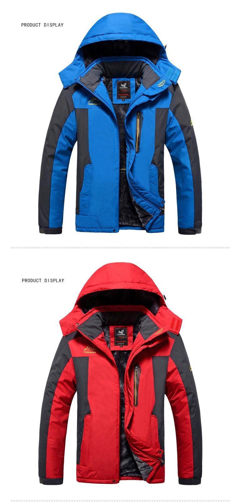 Winter Fleece Military Hiking Jackets Coat (11)