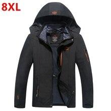 Frühling und herbst outfit super sized extra große größe jacke tragen, männlichen dünger erhöhen fett mantel männlichen 4XL 5XL 6XL 7XL