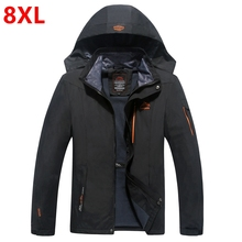 spring and autumn outfit super sized extra large size jacket wear, male fertilizer increase fat coat male 4XL 5XL 6XL 7XL