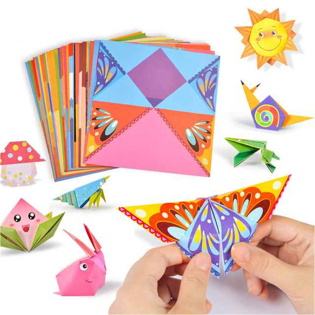 54pcs/set Origami Paper 3D Cartoon Animal Pattern Toy Kid Handmade DIY Color Papers Scrapbooking Craft Decoration Education Toys 1