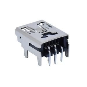 "Image 1 - 10Pcs מיני USB סוג B 5 פינים שקע נקבה אנכי/אופקי מח""ש שקע מחבר עבור זנב טעינה"