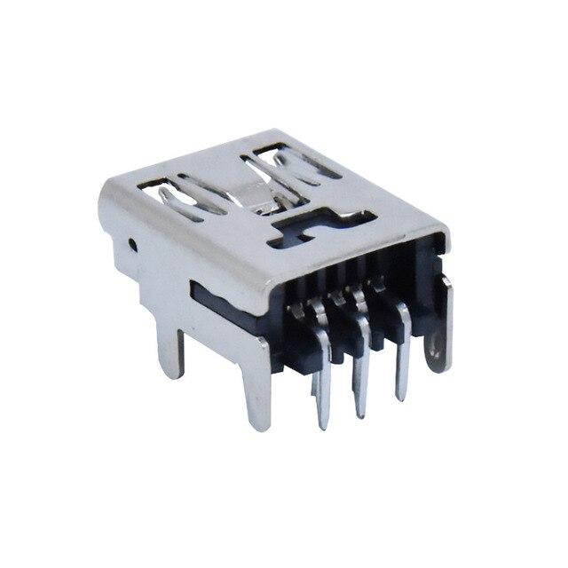 "10Pcs מיני USB סוג B 5 פינים שקע נקבה אנכי/אופקי מח""ש שקע מחבר עבור זנב טעינה"