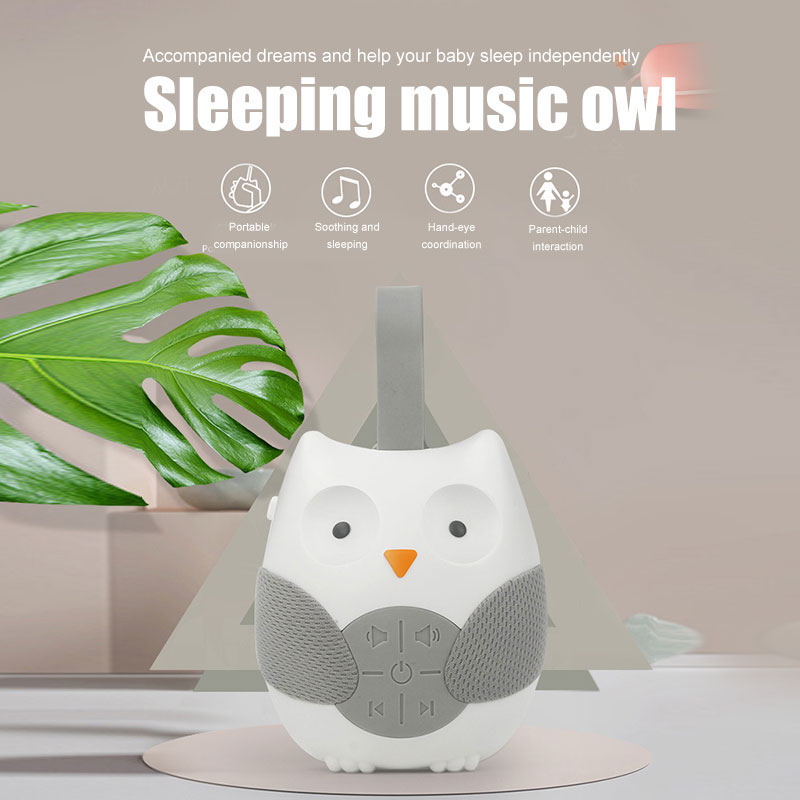 Portable Baby Soother Music Player Owl Shaped Hanging Stroller  Sleeping Comfort Early Education Toy DTT88