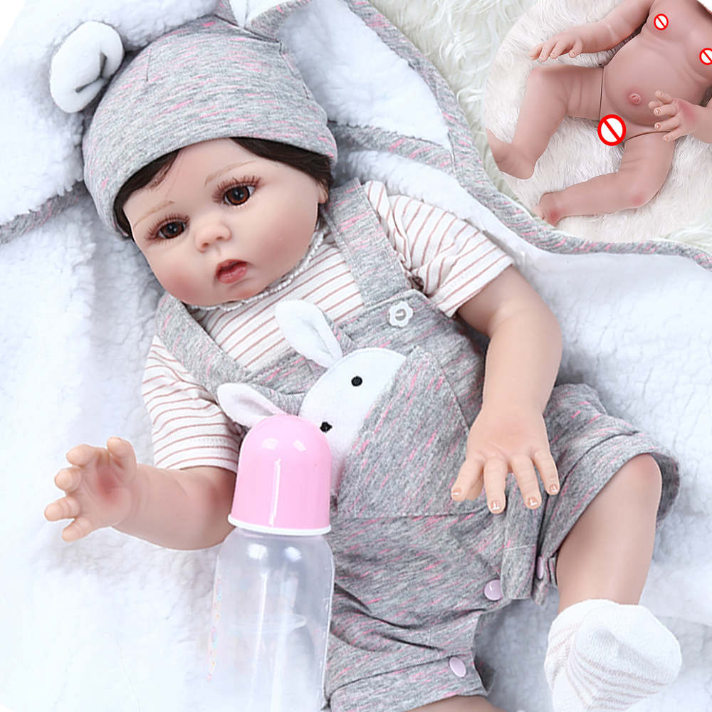 Bebe Doll Reborn Boy Girl 48cm Full Silicone Reborn Baby Dolls Real Boy Girl Bebe Reborn Christmas Surprise Gift Toys Dolls Aliexpress