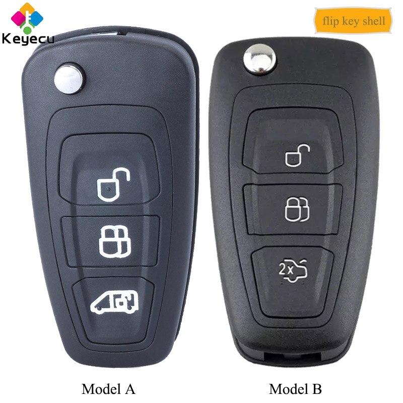 Брелок для автомобильного ключа пульта дистанционного управления KEYECU, чехол с 3 кнопками, HU101 Blade   FOB для Ford Focus C Max Fiesta Mondeo Transit|Ключ от авто|   | АлиЭкспресс