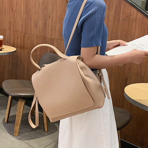 Image 4 - New Fashion Leather Backpack Female Women School Bags Back pack for Teenger Girl Shoulder Casual Sac A Dos Multifunction Bagpack