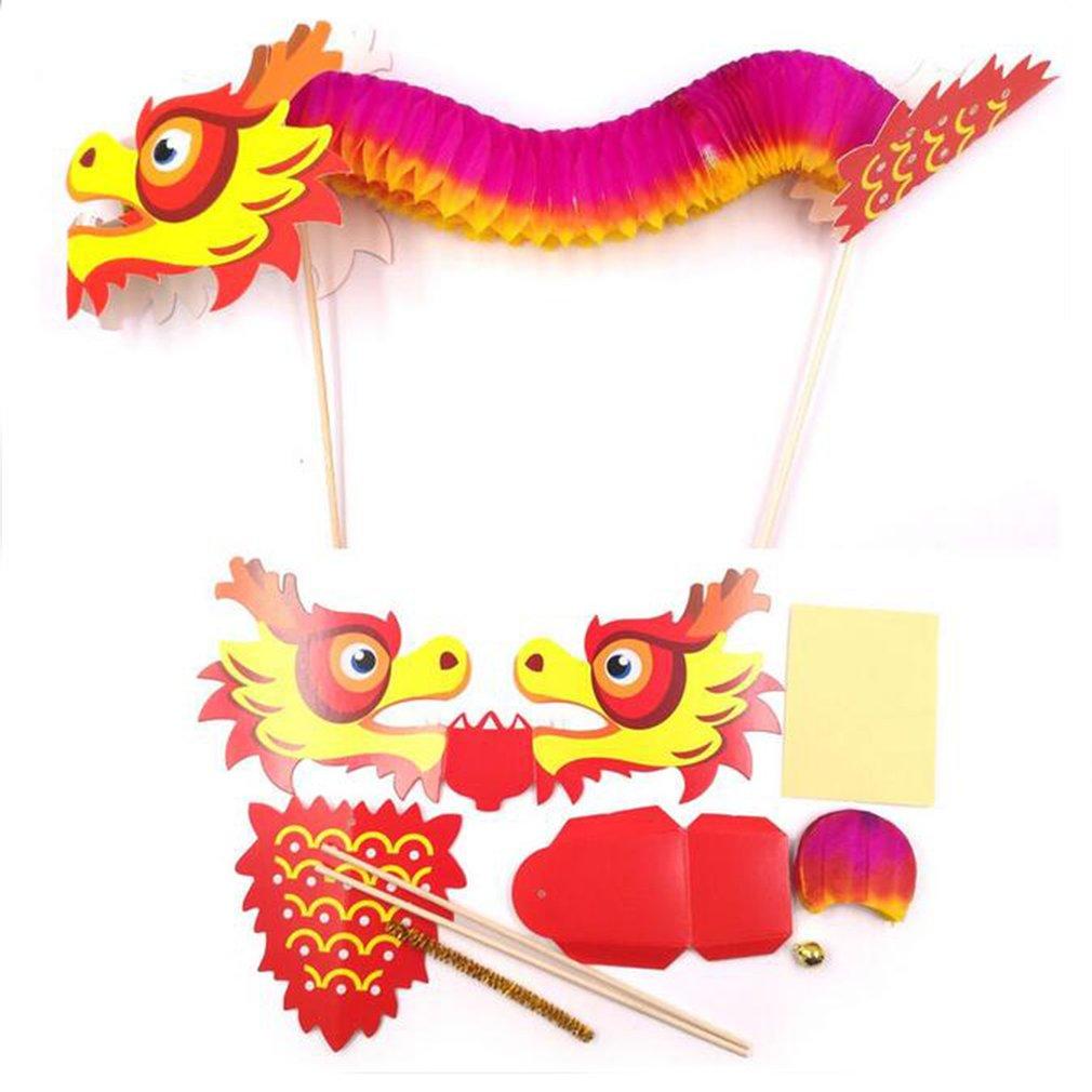 Dragon Dance Children's Handmade Diy Material Package Kindergarten Mid Autumn Festival Puzzle Creative Material Bag