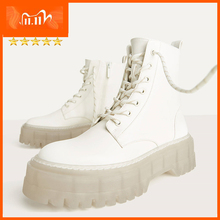 Ankle-Boots Chunky Women Crystal Winter Platform INS Hot Soles
