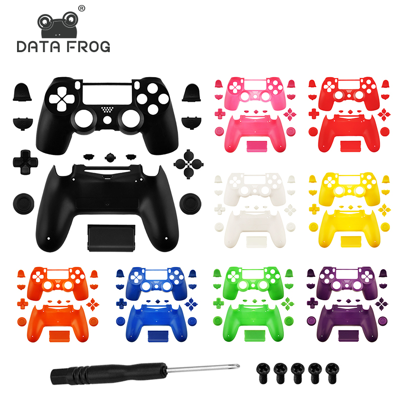 Data Frog Replacement Full shell and buttons <font><b>mod</b></font> kit for <font><b>PS4</b></font> Slim Gamepad Protection <font><b>Case</b></font> For jds 040 <font><b>PS4</b></font> Slim Pro Housing Cover image