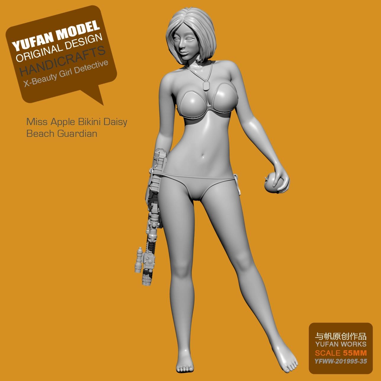 1/35 ,55mm Resin Model Figures Detective Beauty C Resin Soldier Unpainted Kit