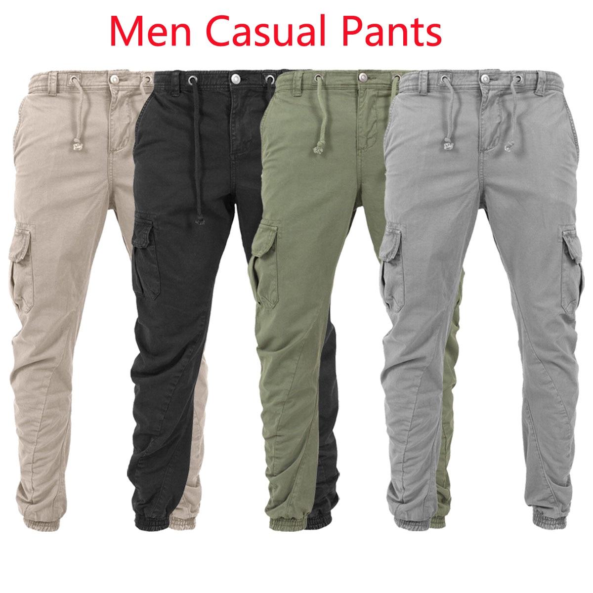 Mens Camo Slim Fit Pants Skinny Joggers Sports Combat Bottom Tracksuit Trousers