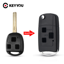 KEYYOU For Lexus IS200 GS300 RX300 LS400 ES330 SC430 IS300 Shell 3 Buttons Fob Key Case Replacement Modified Car Key