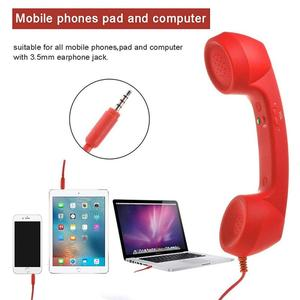 Мобильный телефон приемники телефона наушники Ретро телефоны приемник для 3,5 мм интерфейс мобильного телефона для IPhone