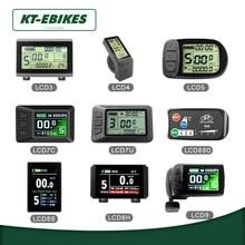 KT Ebike LCD led ekran Kuteng 24V 36V 48V Lcd3 lcd8h led 880 LCD7 elektrikli bisiklet bisiklet ekran elektrikli bisiklet kiti