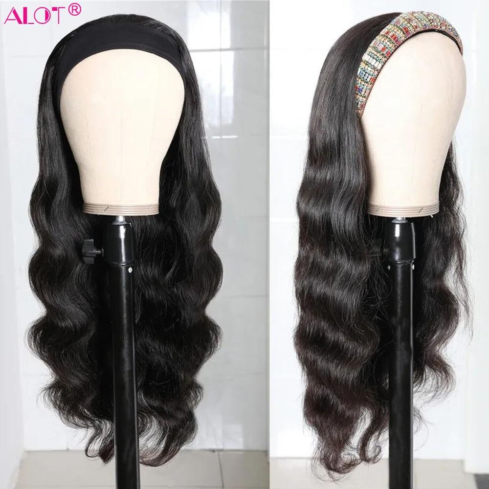 Headband Wig Brazilian Body Wave Human Hair Band Wig Full Machine Made Wig 10~28 Inch Human Hair Wigs Remy 150%