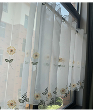Hot Sale Kitchen Curtain Blind Balloon Curtains Fabric Flower Roman Sheer Home Decor Coffee