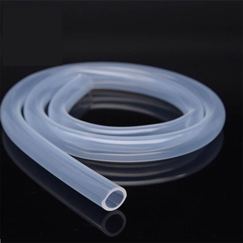 10 Meters Transparent Food Grade Silicone tube <font><b>8mm</b></font> x 11/12mm Out Diameter Flexible Garden Rubber <font><b>hose</b></font> Aquarium Soft Tubing <font><b>Hose</b></font> image