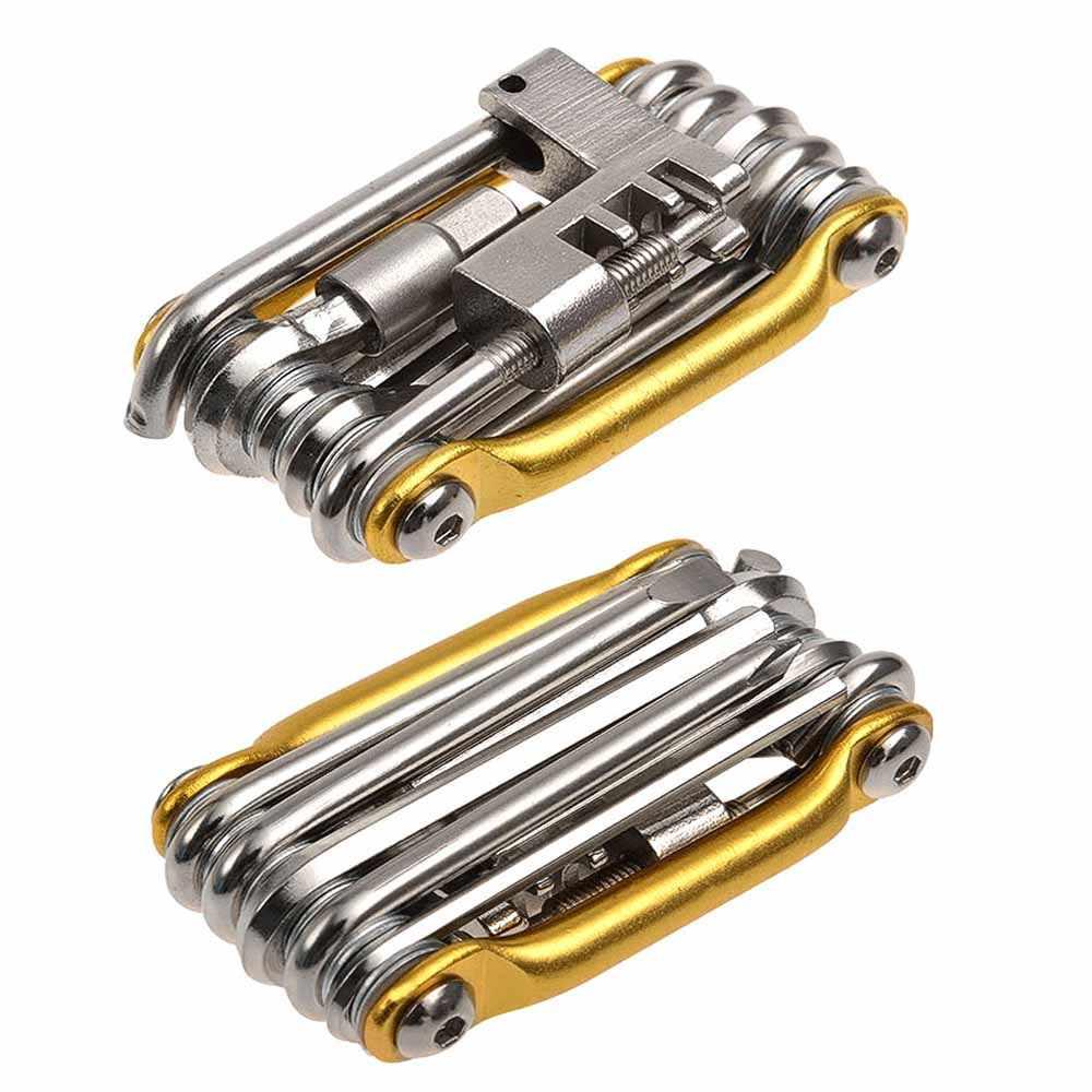 Poche 11 en 1 Multitool pliant Kits de réparation de pneus de vélo EDC outils de vélo ensemble clé de vélo tournevis coupe-chaîne cyclisme