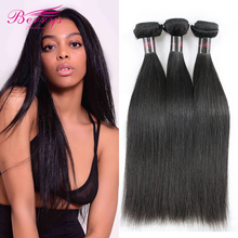 Berrys Fashion Hair Indian 3-Bundles 100%Unprocessed Hair-Extensions Natural-Color Straight