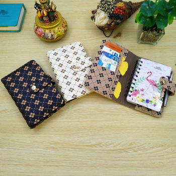 A7 Journal Notebook 2021 Planner Diary Agenda With Widely Reuse Leather Folder Multi-organizer Pockets(1PC)