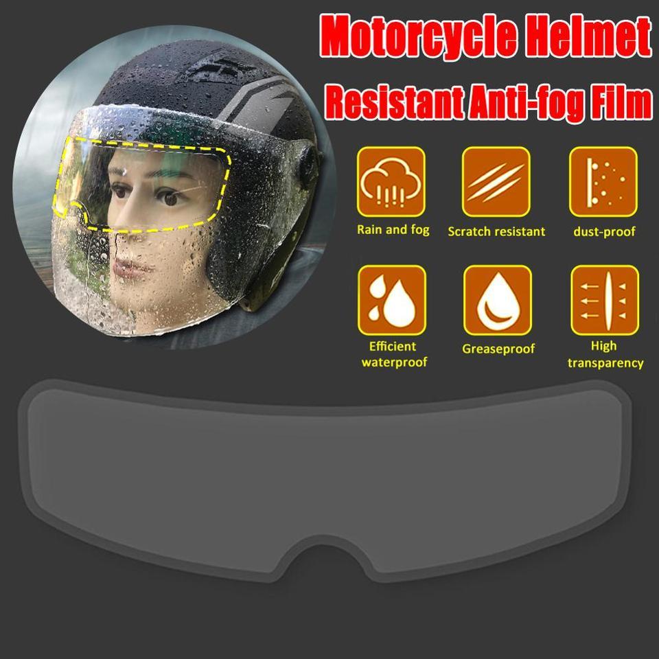 Universal Clear Anti-Fog//Rain Motorcycle Helmet Lens Film Resistant Films M2F1