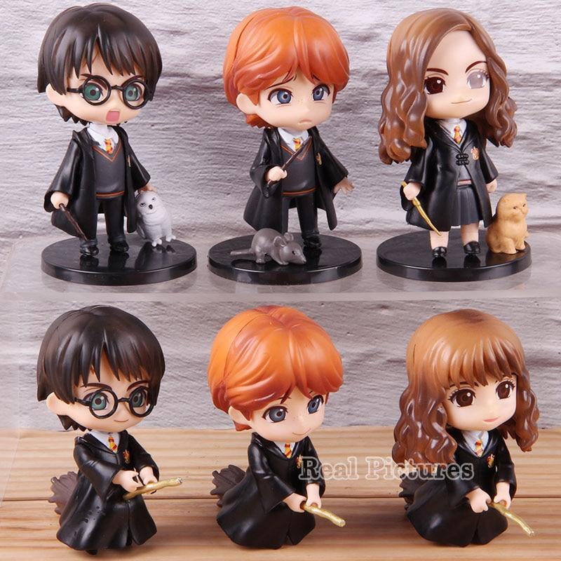 New Style Q Posket Potter Hermione PVC Anime Dolls Action Figures Collectible Model Kids Toys 6pcs/set