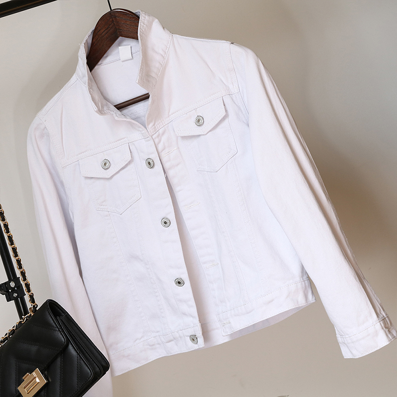 Jeans Jacket and Coats for Women 2019 Autumn Candy Color Casual Short Denim Jacket Chaqueta Mujer Casaco Jaqueta Feminina (13)