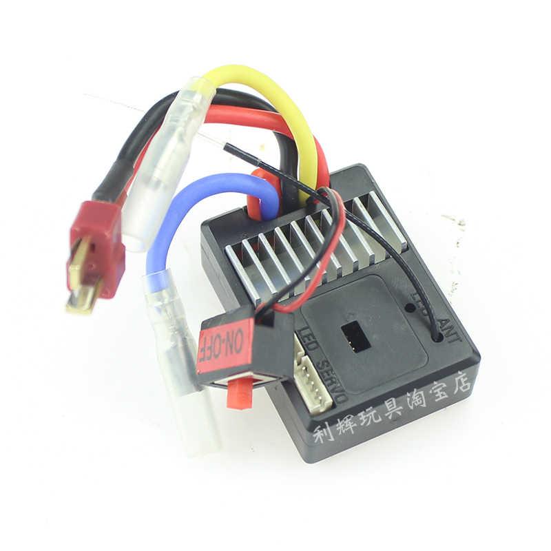 WLtoys 144001 RC car partes receptor cargador Servos engranaje neumático amortiguador coche cáscara cardán eje C asiento hueso de perro