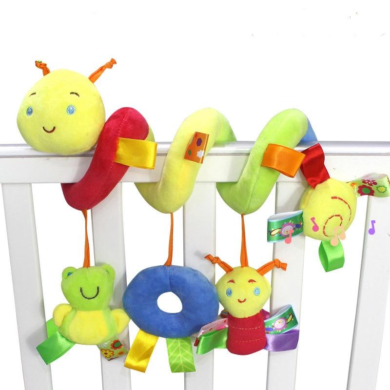 Newborn Baby Stroller Toys Lovely Snail Model Bed Hanging Educational Rattle WJ414