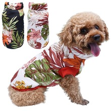 Dog Clothes Autumn Winter Coats Plants Flowers Printed Thick White Black Warm Jackets for Pet Size S-XXL