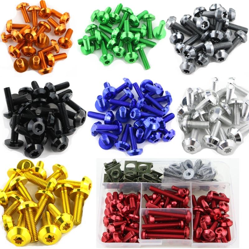 For Honda CBR1000RR CBR600RR F2 F3 F4 CBR900RR CBR1100XX VFR800 VFR 750 RC51 Complete Full Fairing Bolts Kit Bodywork Screw Clip