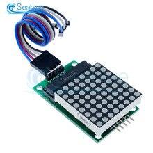 MAX7219 Dot Modulo Matrice di Led 8*8 MCU Display A LED Modulo di Controllo Per Arduino Modulo di Interfaccia 5V 8x8 Input Output Catodo Comune