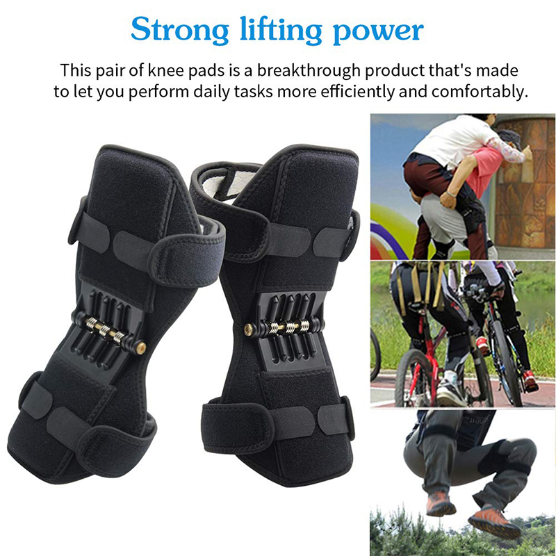 Hcce034605bf14654aa24d1e4aff8d5e9r - Knee Boost Joint Support Knee Pads Knee Patella Strap Power Lifts Spring