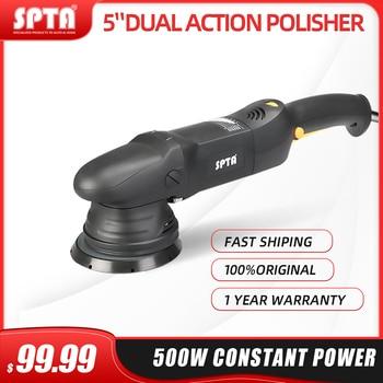 SPTA 5inch & 6inch 500W Car Polisher 15mm Dual Action Polisher DA Polisher Home DIY Polisher Machine with Sponge Polishing Pads фото