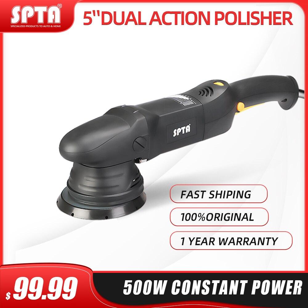 Spta 5 polegada & 6 polegada 500w polidor de carro 15mm dupla ação polisher da polidor casa diy polidor máquina com esponja polimento almofadas
