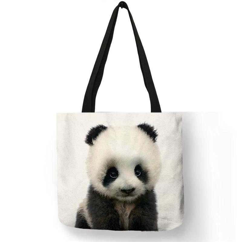 Sac en toile de lin Bébé Panda Créer Son T Shirt
