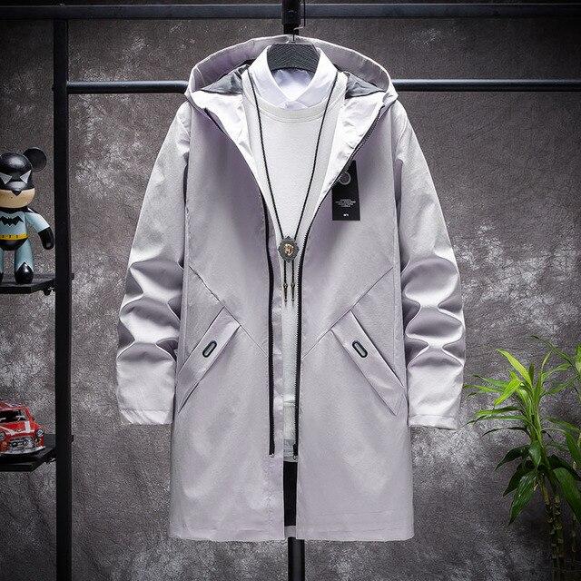 KOLMAKOV 2021 New Men's Thin or Thick With Velvet Windbreaker Men Hooded Printed Overcoats Casual Long Trench Coats Male M-4XL 6