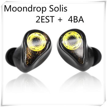 MoonDrop Solis 2EST+4BA Hybrid Drivers HiFi Music Monitor DJ Studio Stage In-Ear Earphone with Detachable Cable