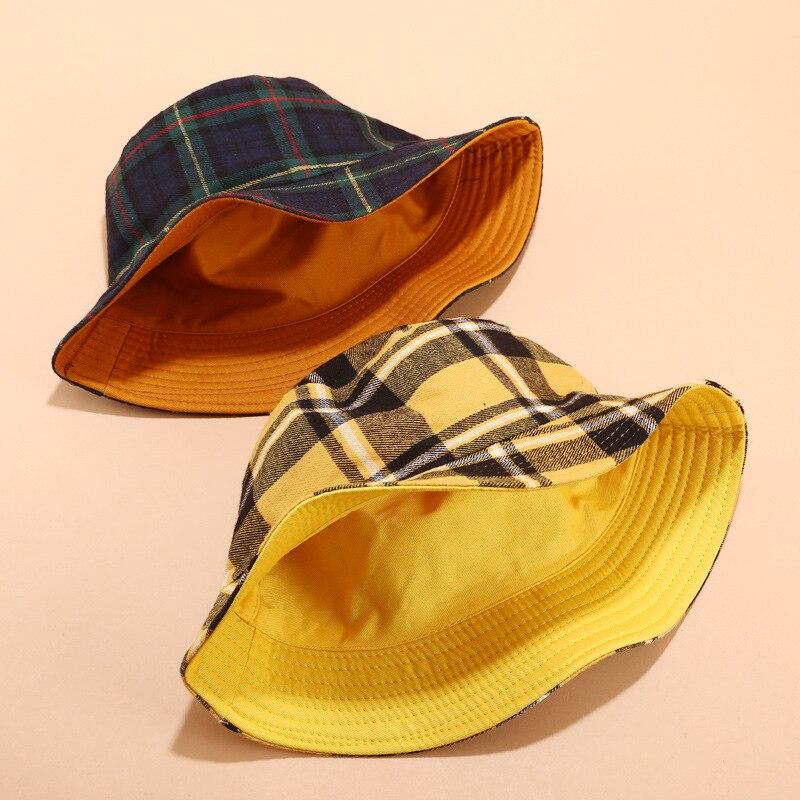Панама Jordan Женская двусторонняя в клетку, Панама с плоским верхом, складная шапка от солнца, для отдыха на открытом воздухе|Мужская панама| | АлиЭкспресс - Трендовые вещи из сериала «Эмили в Париже»