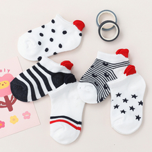 Short Sock Mesh Heart Toddler Girls White Newborn Boy Cotton Cute 5pairs/Lot Lovely Red