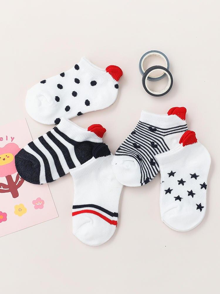 Short Sock Mesh Heart Toddler Girls White Newborn Boy Cotton Cute Lovely Red for Baby