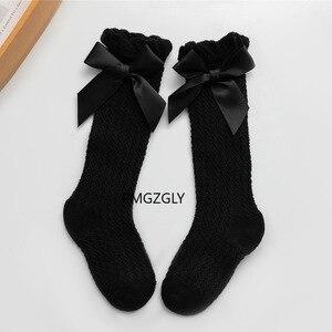 Baby Mädchen Socken Kleinkind Baby Bogen Baumwolle Mesh Atmungsaktive Socken Neugeborenen Nicht-slip Baby Mädchen Socken 0-3 jahre günstige sachen